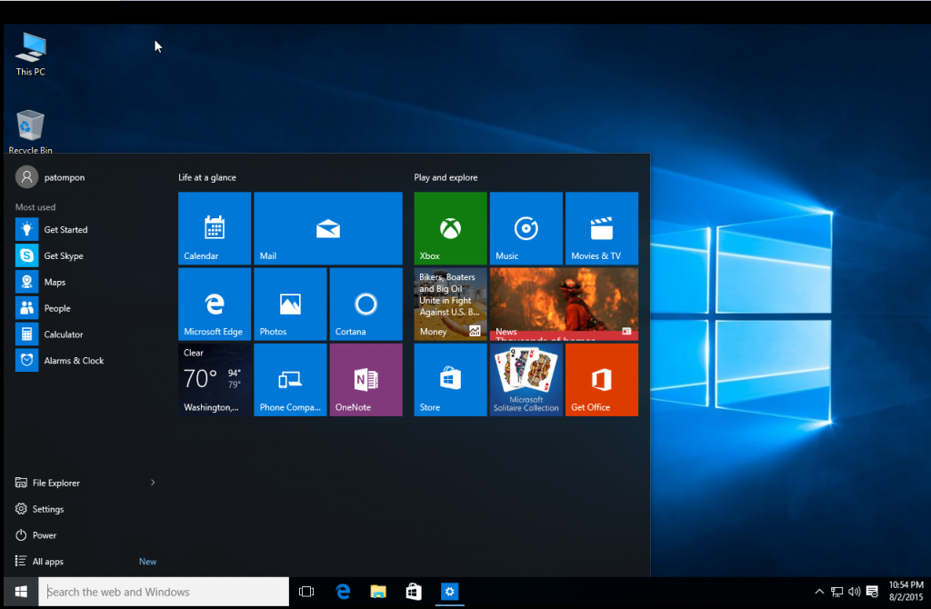 Windows10-Start Menu