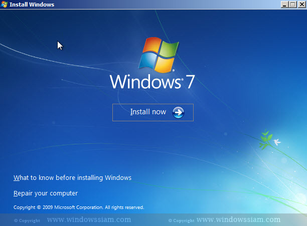 install Windows 7 install