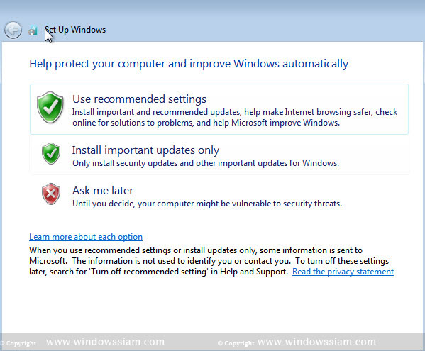 install Windows 7 securiry