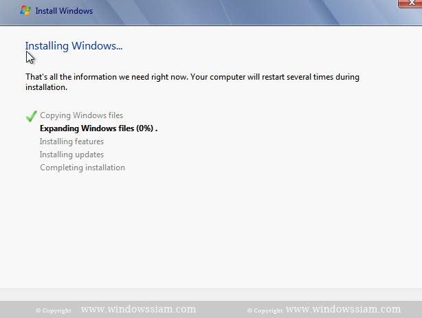install Windows 7 watting install