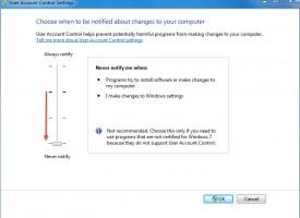 วิธีการปิด UAC Windows 7