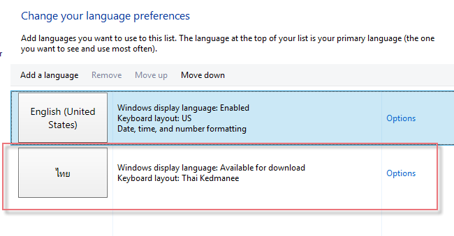 Add Thai Language Windows8-4