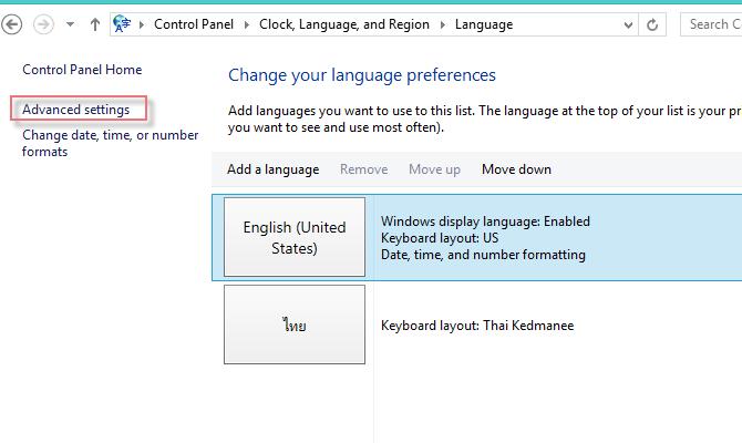 Add Thai Language Windows8-7