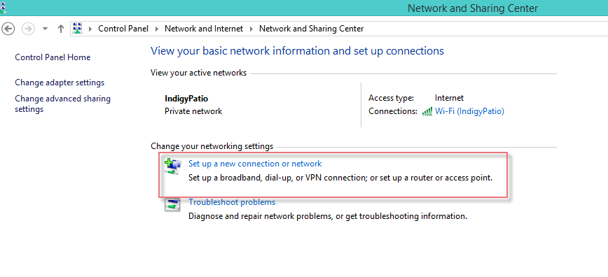 Set VPN Windows 8.1-2