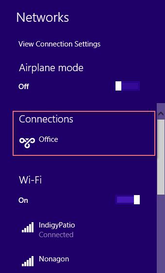 Set VPN Windows 8.1-7