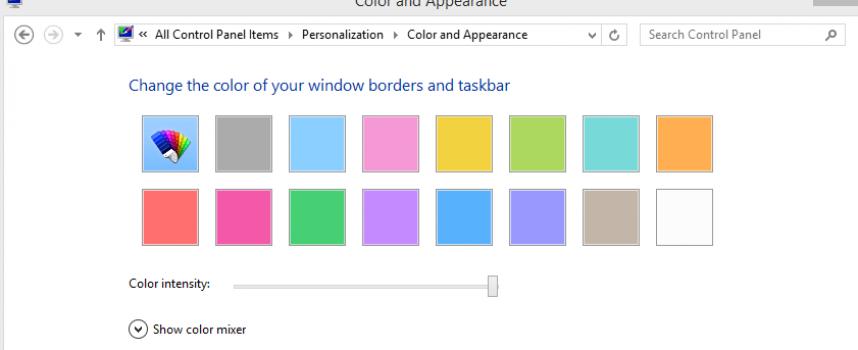 วิธีการเปลี่ยนสี Taskbar Windows
