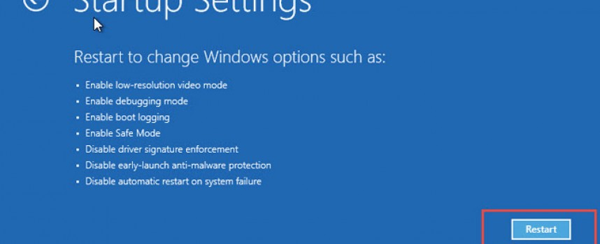 วิธีการเข้า Safe Mode Windows 8.1 , Windows 8