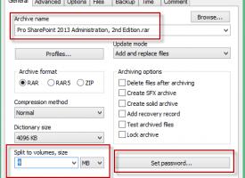 การแบ่งไฟล์ Zip หลายๆไฟล์เพื่อทำการส่ง Email