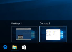 มุมมอง Tasks View Windows 10