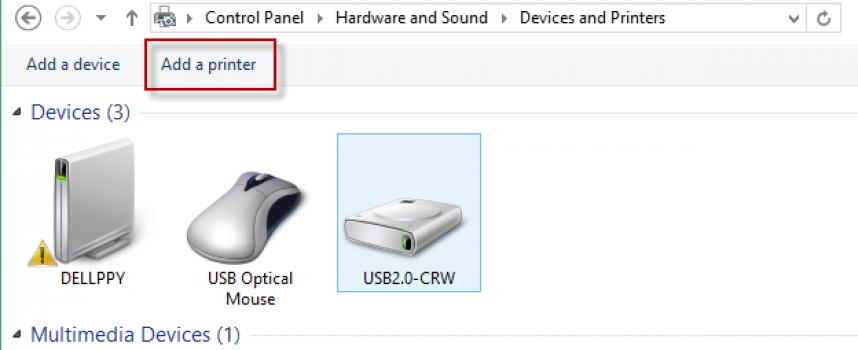 สอนวิธีการเพิ่ม Printer Windows 8.1
