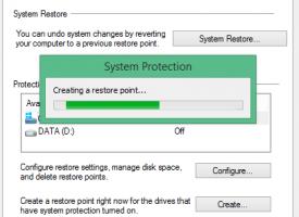 สร้าง System Restore และการ Restore System Restore Windows 10