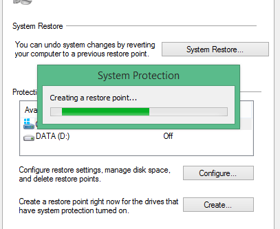 win 10 how to create 5 restore points
