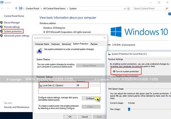 Create-System-Restore-Windows-Properties