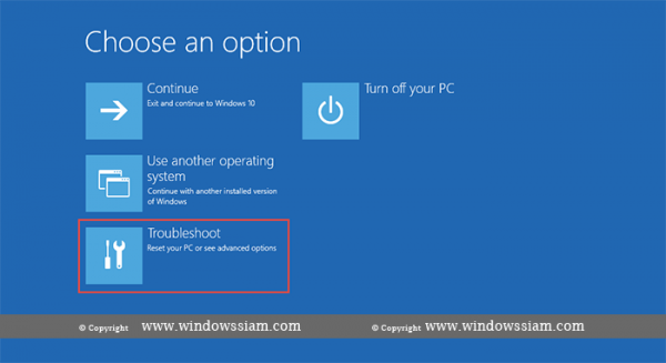 System Restore - Windows 10 Troubleshoot