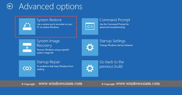 System Restore - Windows 10 system restore