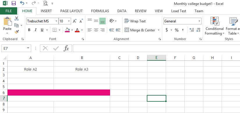 Merge&Center-Excel2013-1