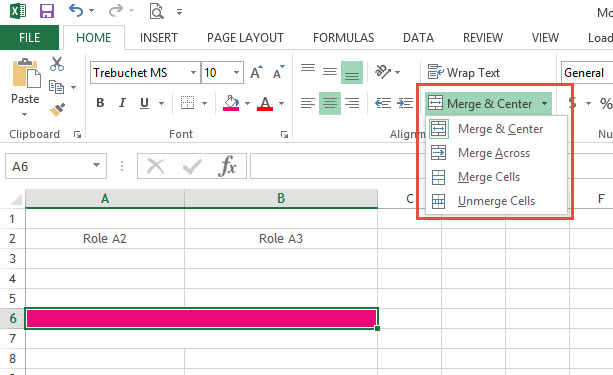Merge&Center-Excel2013-2