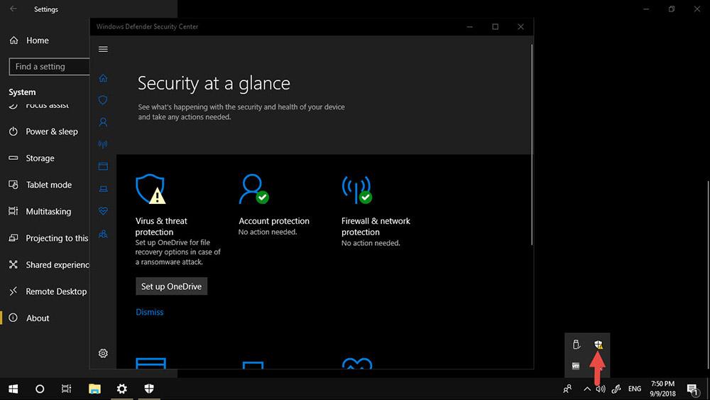 แอนตี้ไวรัส Windows 10