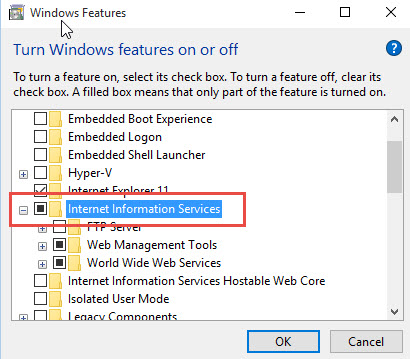 Enable-IIS-Windows10-Select