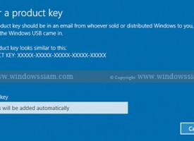 การ Activate License Key Windows 10