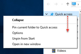 QuickAccress-ThisPC-Windows10-Option