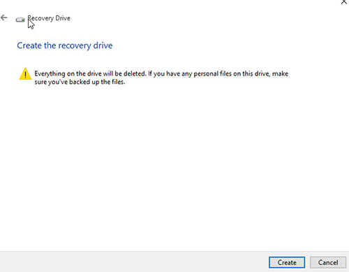 Recovery-Drive-Windows10-USBCreate