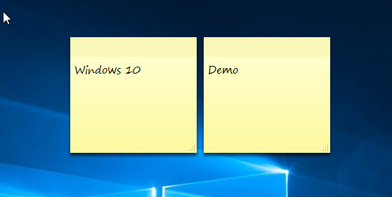 กระดาษ Sticky Notes Windows 10 Windowssiam