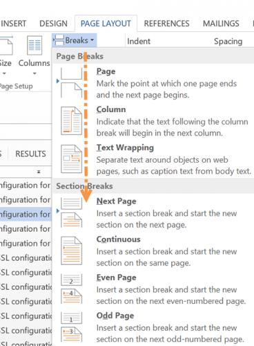 Breaks - Page Microsoft Word