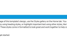 การทำ Heading  ใน Microsoft Word