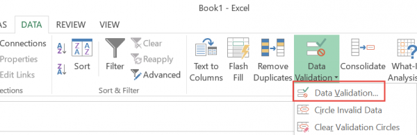 how to create multiple drop down list in excel 2013