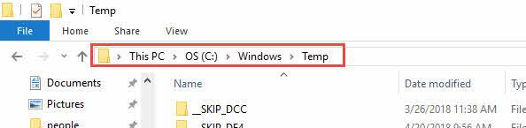 ลบขยะ Windows 10