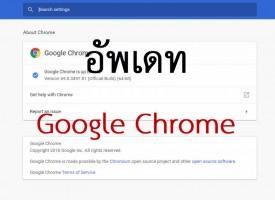 อัพเดท Google Chrome และตรวจสอบเวอร์ชั่น