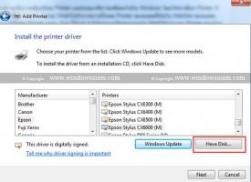 สอน Add Printer บน Windows 7