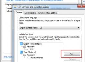 วิธีการเพิ่มภาษาไทยใน Windows 7