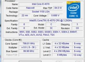 ตรวจอุปกรณ์คอมพิวเตอร์โปรแกรม CPU-Z