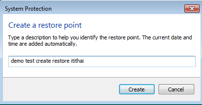 Create a restore point-Windows7-4