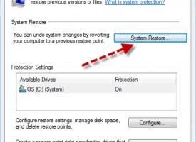 การทำ Create a restore point and system restore Windows 7