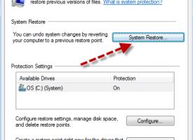 การทำ Create a restore point and system restore Windows 7