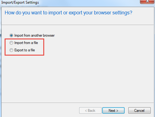 Export and Import Bookmark IE2