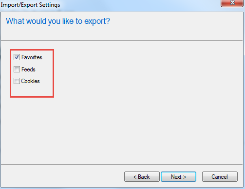 Export and Import Bookmark IE3