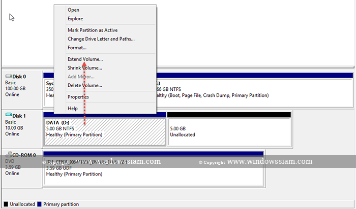 Extend-Volume Windows Disk Step6