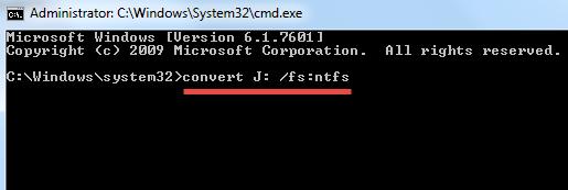 NTFS-Drive command