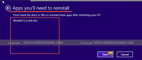 Refresh-Windows8.1 Step5