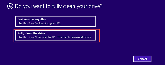 Reset-Windows 8.1 Step5