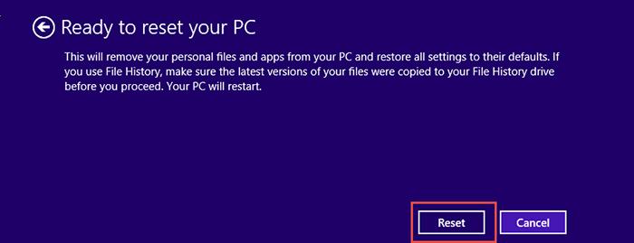 Reset-Windows 8.1 Step6