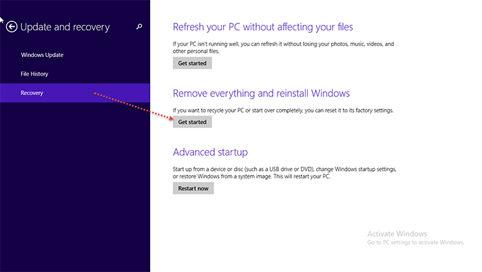 Reset-Windows 8.1