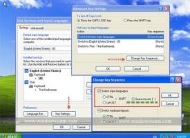 วิธีการเปลี่ยนปุ่มในการเปลี่ยนภาษา Windows XP