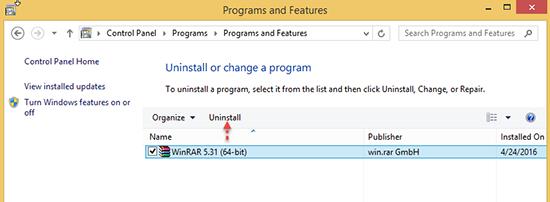 Uninstall-Program Windows 8.1-ControlPanel