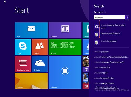 Uninstall-Program Windows 8.1