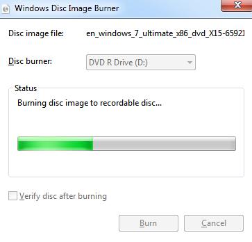 Windows Disc image Burner3